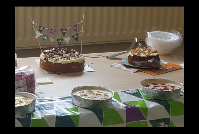 Picture of cakes donated for Macmillan Cake Sale