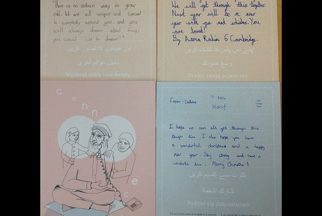 Messages of hope postcards