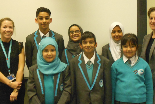 Picture of School Council members visiting the Board of Governors meeting