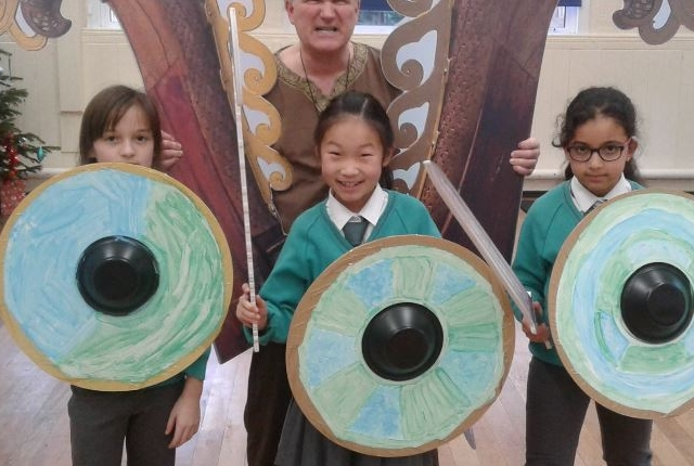 Viking and Anglo Saxon workshop picture