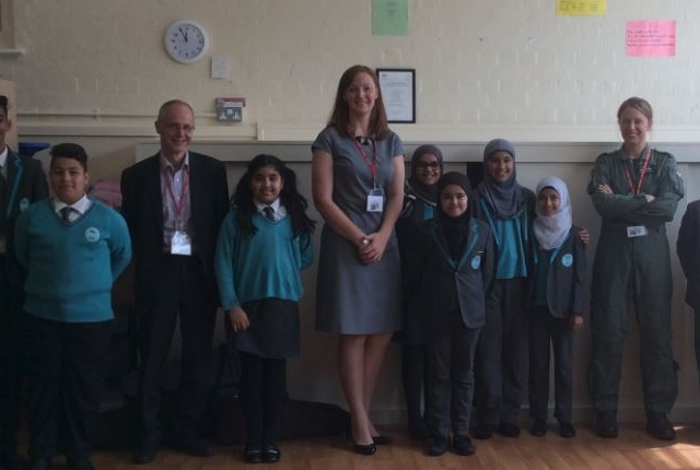 Year 6 pupils with their inspiring visitors