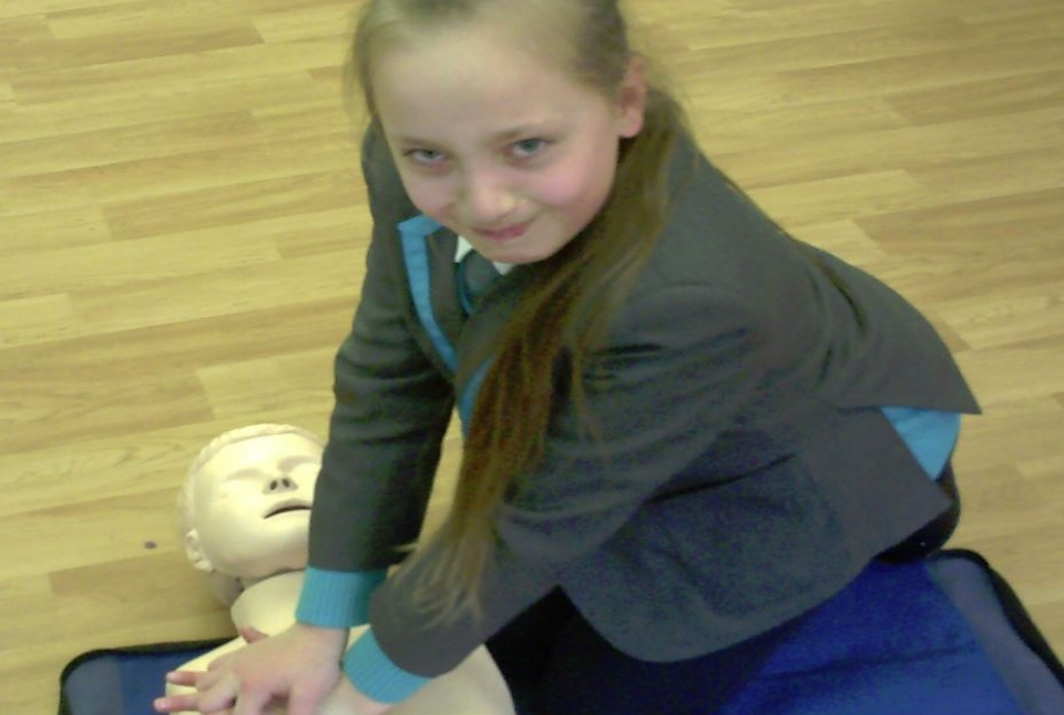 Photo of pupil practising CPR
