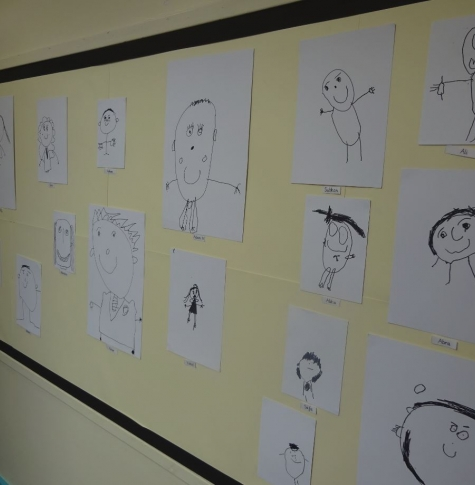 Self portraits by EYFS and Year 1