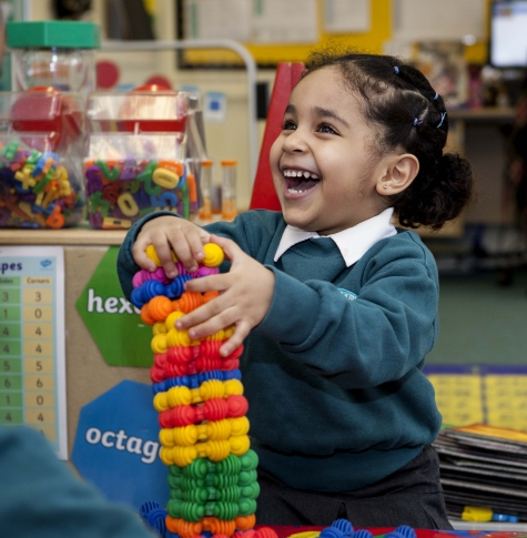 Picture of Nursery pupil using interstars