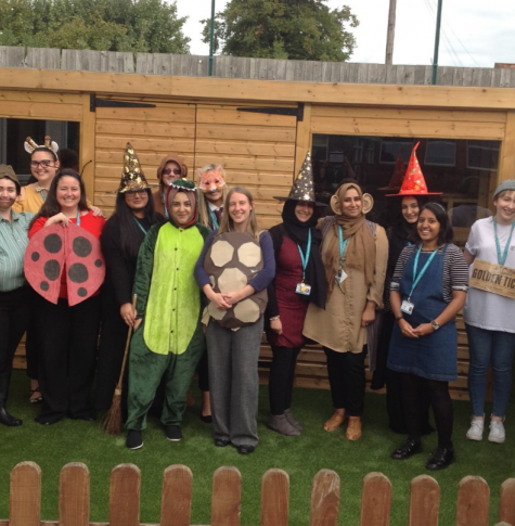 Photo of staff dressed as Roald Dahl characters