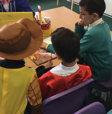 Pupils sharing a book